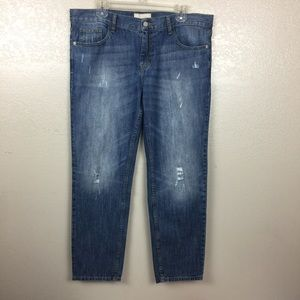 Banana Republic Distressed Cropped Jeans Size 6